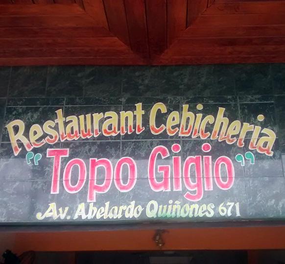 Topo Gigio Restaurant cevicheria Iquitos