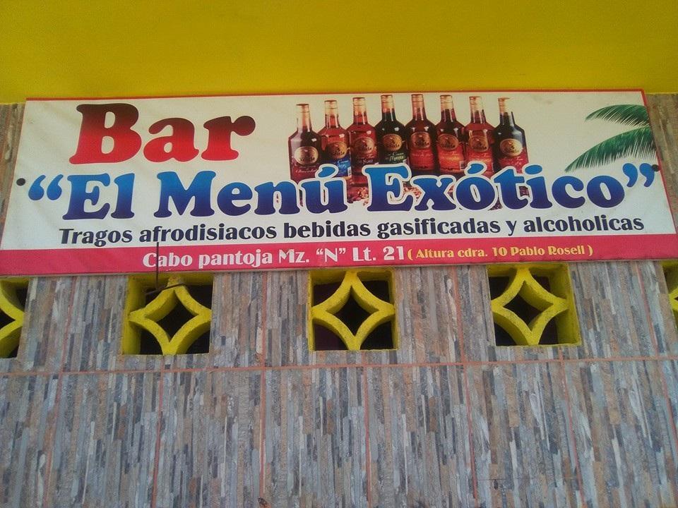 Bar El Menú Exótico
